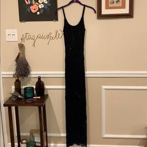 Early 1990's Beaded Knit Gown